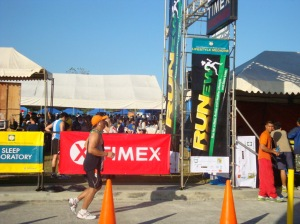 Pol running to his first 15k finish