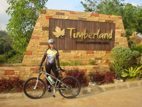 at the entrance of TImberland's Clubhouse