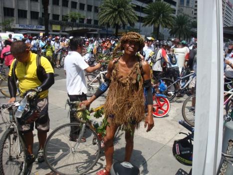 costumed biker