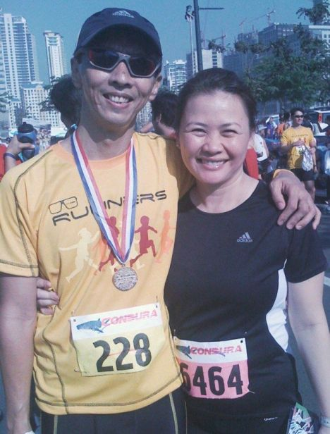 JunC and Mariel at the Condura Run 2009