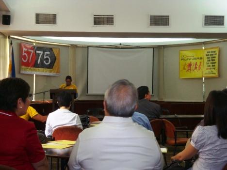 Jake de Guzman giving his speech ;)