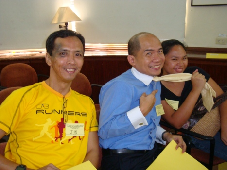 jun, jay and marga having a light moment