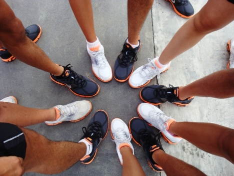 our favorite group pic - the nike lunar glides take center stage this time! ;)