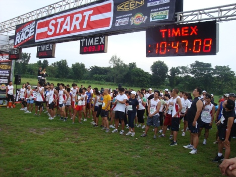 5k runners waiting for gun start