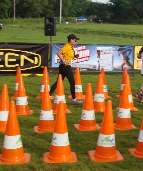 running to my 5k finish