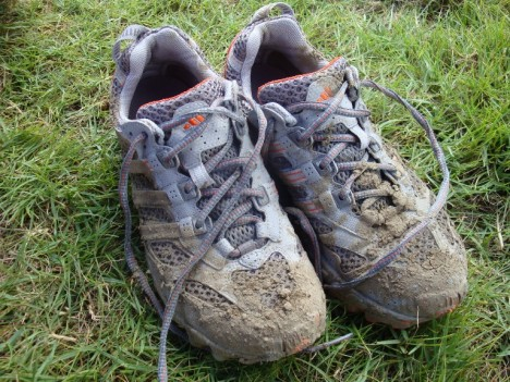 my muddied shoes