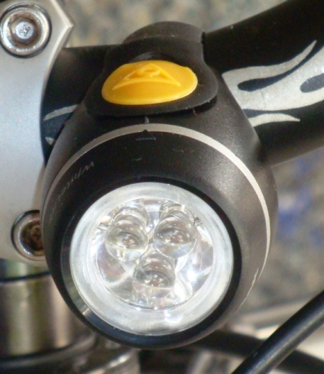 My Topeak headlight - cute! ;)