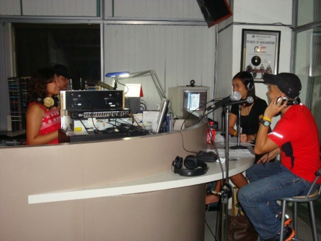 inside the booth