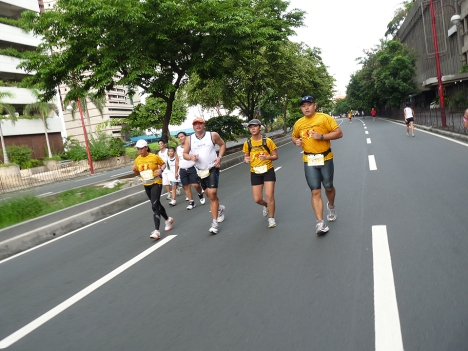 running along Buendia Ave