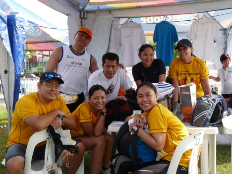 at the RunRadio booth Bob, Pol, Yen, Art, me, Marga and Tin