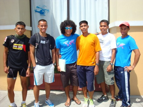 the running coaches: coaches ruel, jo-ar, rio, john, jords and jessie