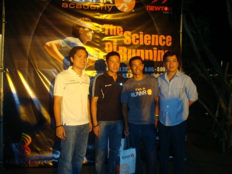RUNNR Owner, Mr Toby Claudio with Adrian, Arland and Polar Representative