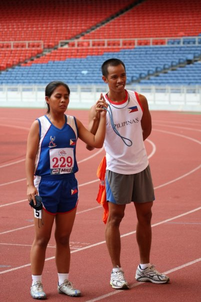 a paralympic athlete with Coach Joar (pic courtesy of Coach Joar)