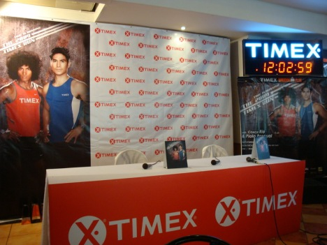the timex run launch backdrop