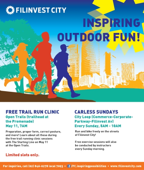 Carless Sundays + Free Run Clinic - E-Poster
