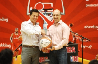 Wilfred Steven Uytengsu President & CEO Alaska Milk Corporation and Scott Levy Sr. VP  and Managing Director, NBA Asia