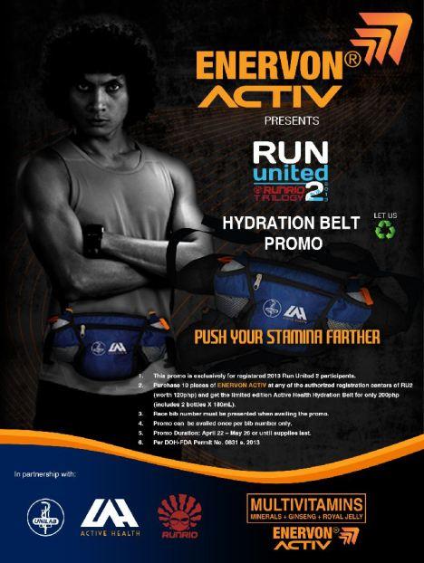 Enervon Activ Hydration Belt Promo poster