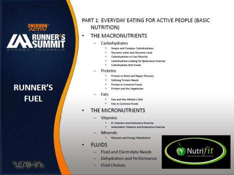 Runner's Fuel Topics