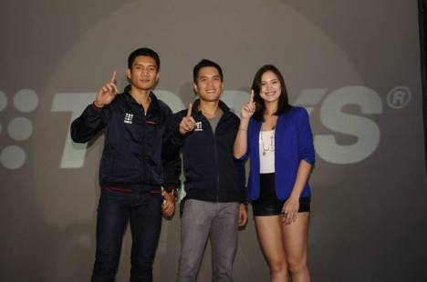 James Yap, Toby Claudio and Michelle Gumabao