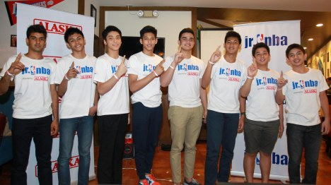 Jr. NBA presented by Alaska All-Star team during their send-off party at Burgoo, The Podium last Nov 13