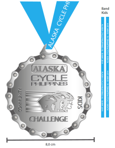 medal for tricycle ride, kids' ride and jr. challenge ride