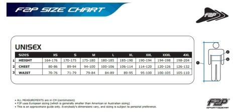 F2P Size Chart