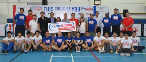Jr. NBA Jr. WNBA presented by Alaska sponsors, coaching staff and the 2013 Jr. NBA All-Star Team Philippines