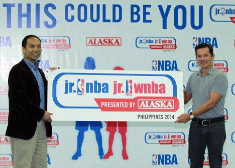 NBA Asia Country Manager, Carlo Singson and Wilfred Steven Uytengsu President and CEO, Alaska Milk Corporation