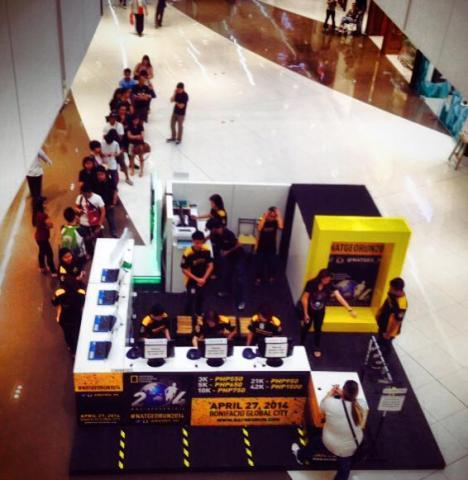 actual registration setup at SM Aura Premier (Lower Ground Floor)
