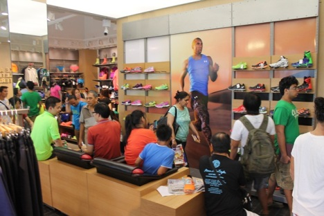 """the """"Foot Zone"""" gathered the most visitor traffic during the Grand Launch"""