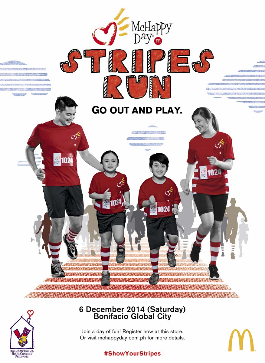 mchappy day stripes run_poster - Mcdonalds Open Christmas Day 2014