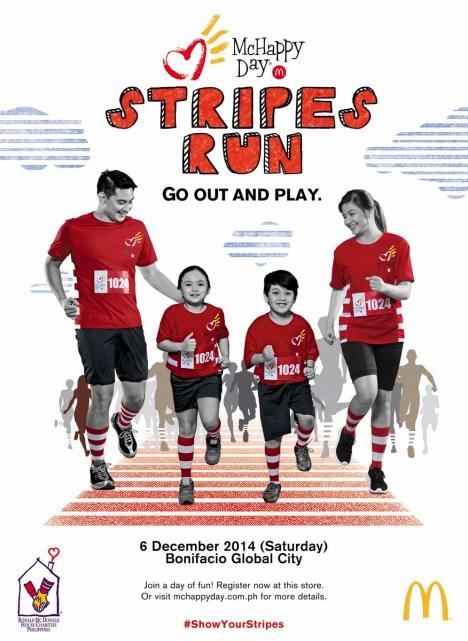 McHappy Day Stripes Run_Poster
