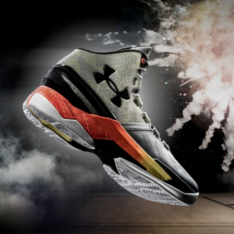 "The ""Iron Sharpens Iron"" Curry Two, the lead colourway for Stephen's second signature shoe"