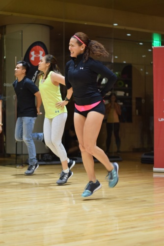 it was a 4-min workout like no other with Coach Toni Saret!