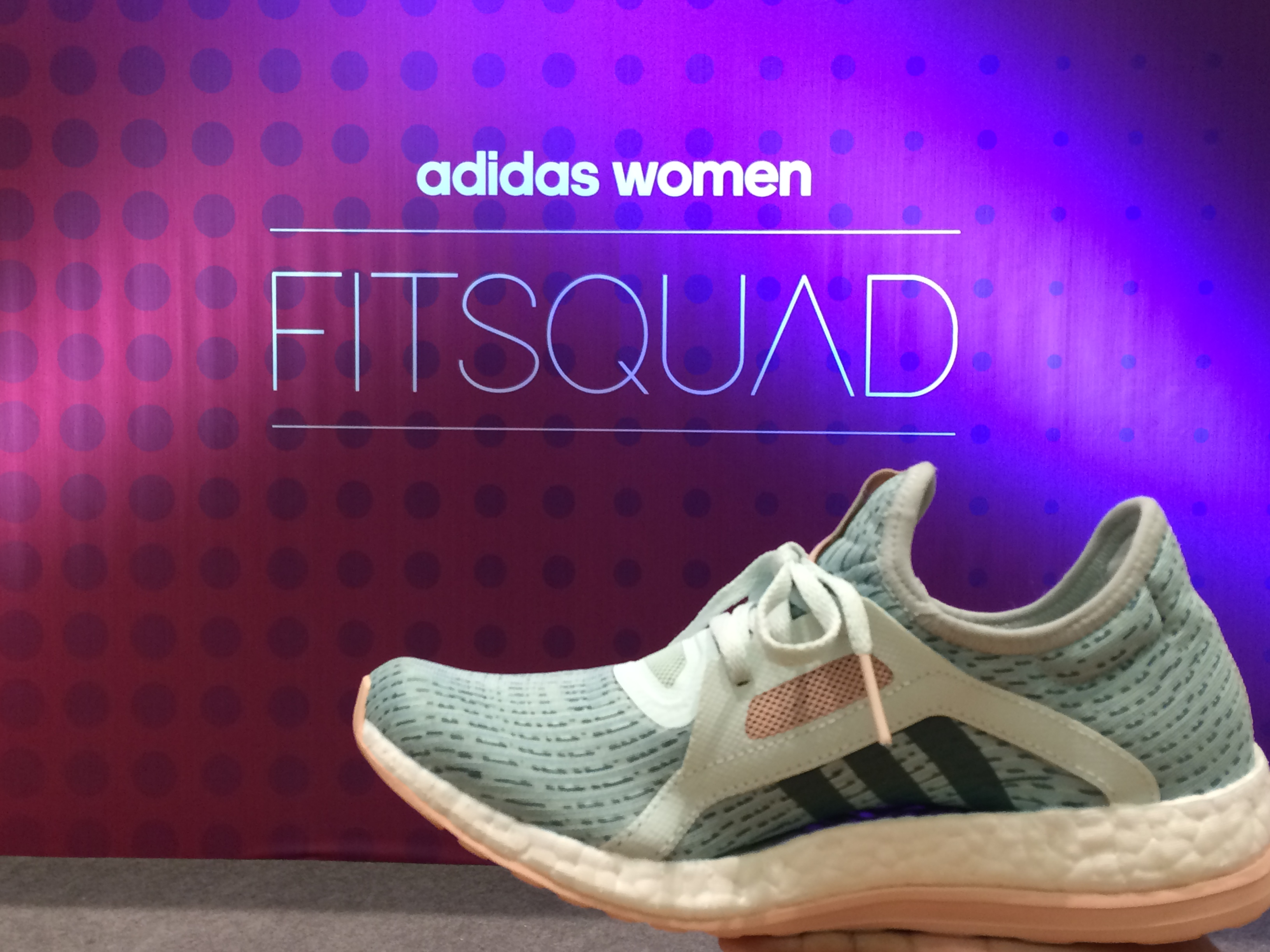 The adidas Women Fit Squad and the new PureBOOST X for Women s ... 601bbe4842